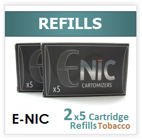 Tobacco Flavour Refill Cartomizers: 2 x 5 pack ( 10 )
